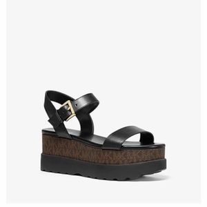 Marlon Leather and Logo Flatform Sandal